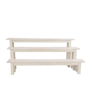 8' Whitewashed Bench
