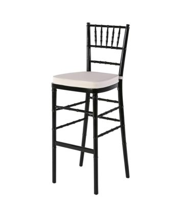 Black Chiavari Highboy Ivory Pad