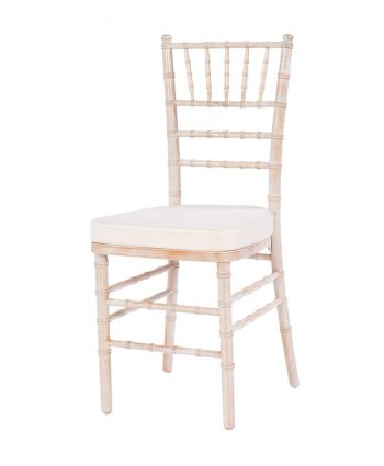 Whitewashed Chiavari - Ivory Pad