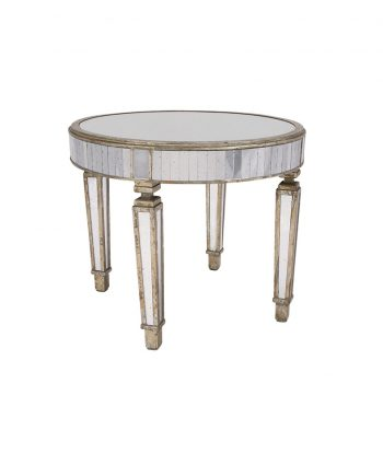 36 inch Mirrored Table