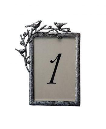 Aviary Silver Table Number