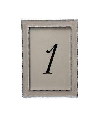 Beaded Pearl White Table Number