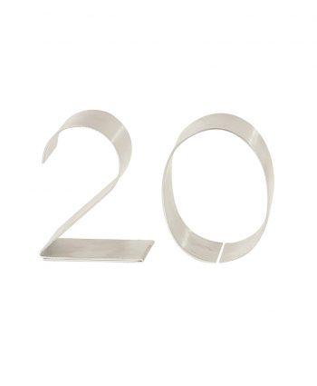 Metal Table Number