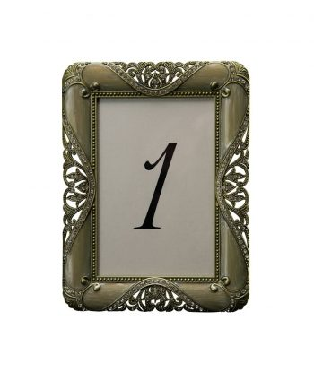 Rocco Bronze Gold Table Number