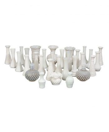 Small Milk Glass Vases