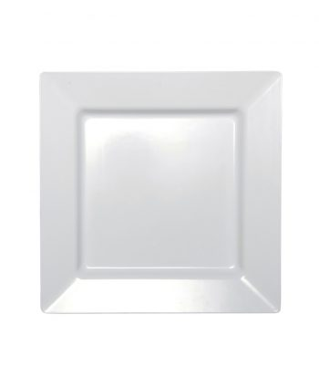 Square White Porcelain Charger