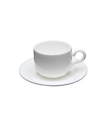 White China Demitasse Cup and Saucer