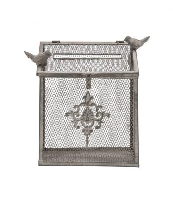 Wrought Iron Bird Cage Card Box