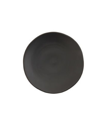 Black China Salad Plate