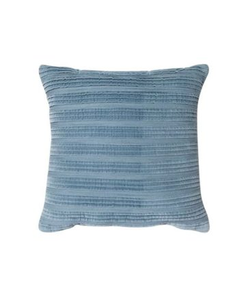Blue Pleated Texture Pillow