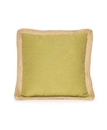 Lime Green Jute Trim Pillow