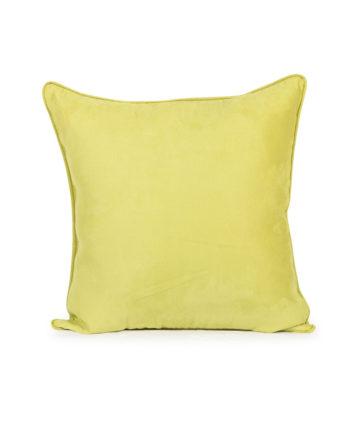 Lime Green Velvet Pillow