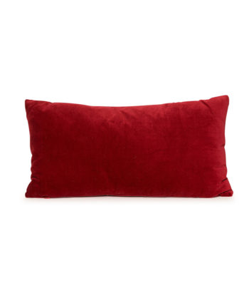 Red Velvet Lumbar Pillow
