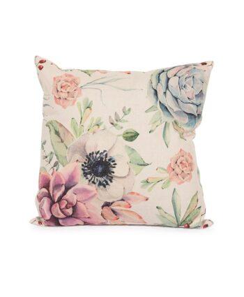 Beige Floral Pillow