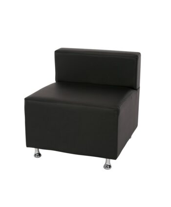 Black Low Back Mod Furniture Collection Armless Chair