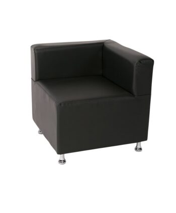 Black Low Back Mod Furniture Collection Corner Chair