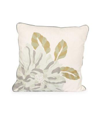 Blue Flower Linen Pillow