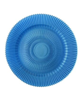 Blue Radiance Glass Charger