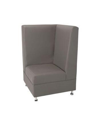 Gray Mod High Back Corner Chair