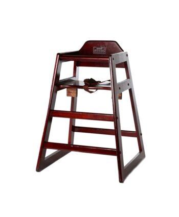 Mahogany Wood Baby High Chair