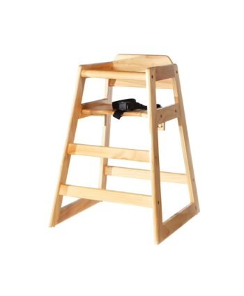 Natural Wood Baby High Chair