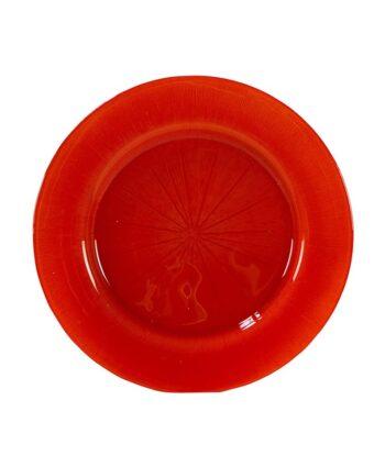 Orange Starburst Glass Charger