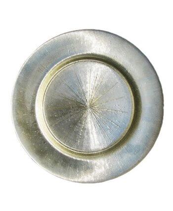 Sparkling Silver Starburst Glass Charger