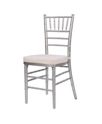 Steel Core Silver Chiavari Chair