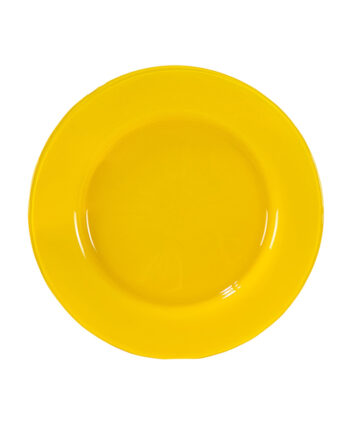 Yellow Starburst Glass Charger